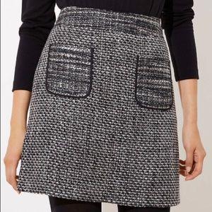 NWT LOFT tweed pocket skirt